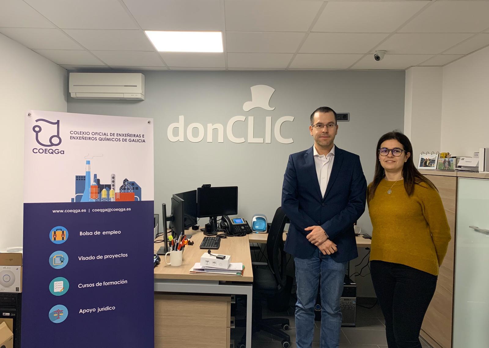 O COEQGa asinou un acordo de colaboración coa empresa carballesa donCLIC